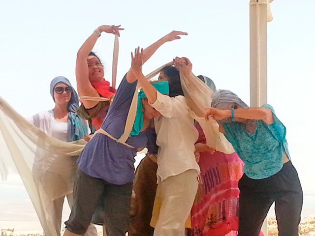 Dance Ritual at Masada Israel, 2013